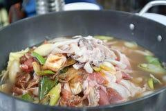 Alimento orientale asiatico coreano Fotografie Stock Libere da Diritti