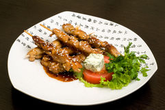 Alimento orientale giapponese, teriyaki Immagini Stock Libere da Diritti