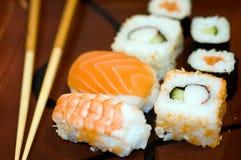 Alimento: palillos del maki del sushi macros Fotos de archivo