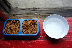 Alimento para animales y agua imágenes de archivo libres de regalías