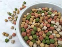 Alimento para cães seco em uma bacia grande Foto de Stock Royalty Free
