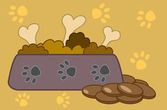 Alimento para cães. Fotos de Stock