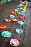 Alimento para crianças na escola asiática fotografia de stock