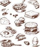 Alimento para o pequeno almoço ilustração do vetor