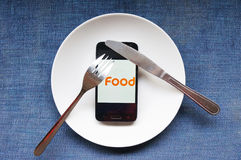 Alimento para povos modernos Imagem de Stock Royalty Free