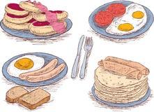 Alimento para um café da manhã ilustração royalty free