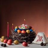 Alimento Paschal da Páscoa Russo-ortodoxo tradicional Imagem de Stock Royalty Free