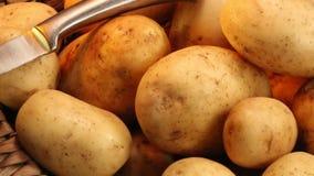 Alimento - patata stock footage