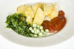 Alimento, patata, orizzontale, mangiante, verdure, verdura, contorno Fotografia Stock