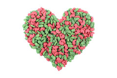 alimento per animali domestici a forma di cuore isolato su bianco Immagini Stock