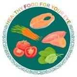 Alimento per l'OCCHIO Immagine Stock
