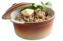 Alimento per salute e bellezza. Porridge fresco Immagini Stock