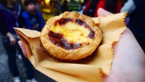 Alimento portugese da galdéria do ovo de Macau fotografia de stock royalty free