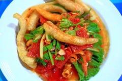 Alimento quente companheiro friável do triplo em Tailândia Fotografia de Stock