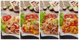 Alimento quente e picante da salada do tailandês yum fotografia de stock