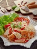 Alimento quente e picante da salada do tailandês yum fotos de stock royalty free
