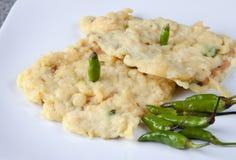 Alimento Rawit dell'indonesiano di Cabai e di Tempe Mendoan Immagini Stock Libere da Diritti