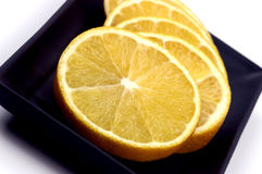 Alimento - rebanadas anaranjadas Foto de archivo