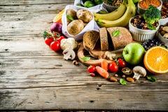 Alimento ricco della buona fibra del carboidrato fotografie stock