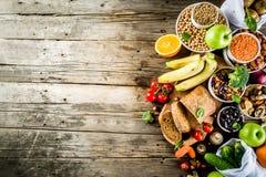 Alimento ricco della buona fibra del carboidrato immagini stock