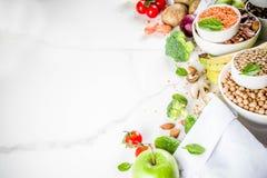 Alimento ricco della buona fibra del carboidrato immagine stock