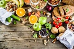 Alimento ricco della buona fibra del carboidrato immagine stock libera da diritti