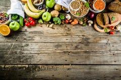 Alimento ricco della buona fibra del carboidrato immagini stock libere da diritti
