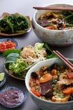 Alimento, rieu do bolo e bolo vietnamianos do canh Foto de Stock