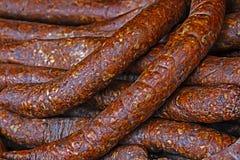 Alimento romeno tradicional (carnati) Imagem de Stock Royalty Free