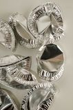 Alimento rotondo del foglio di alluminio isolato Immagine Stock