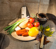 Alimento rustico Fotografia Stock