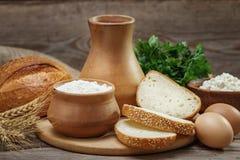 Alimento rustico di eco naturale Immagini Stock Libere da Diritti