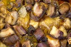 Alimento sérvio tradicional, carne triturada rolada Fotografia de Stock