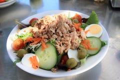 Alimento - salada de atum na placa fotos de stock royalty free