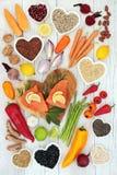 Alimento salutare per forma fisica del cuore fotografie stock libere da diritti