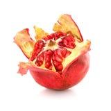 Alimento sano de la fruta roja de la granada aislado Imagen de archivo libre de regalías
