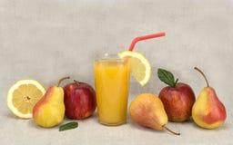 Alimento sano del succo e della frutta Fotografie Stock Libere da Diritti