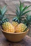 Alimento sano dell'ananas della frutta fresca Fotografia Stock Libera da Diritti