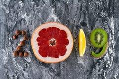 Alimento sano e dieta di feste Le decisioni del nuovo anno 2019 circa immagini stock