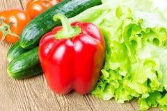 Alimento sano en el vector Fotografía de archivo libre de regalías