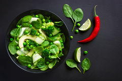 Alimento sano Ensalada verde fresca fotos de archivo