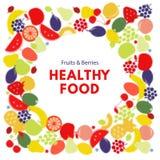 Alimento sano Fondo variopinto di semitono di vettore illustrazione vettoriale