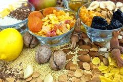 Alimento sano - frutos secos Foto de archivo