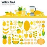 Alimento sano giallo sulla tavola Immagini Stock Libere da Diritti