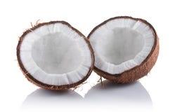 Alimento sano Mitad fresca del coco Fotografía de archivo