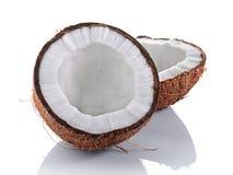 Alimento sano Mitad fresca del coco Foto de archivo libre de regalías