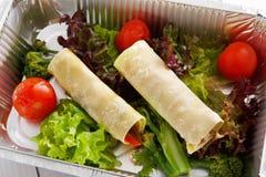 Alimento sano in scatola della stagnola, concetto di dieta Fotografia Stock Libera da Diritti