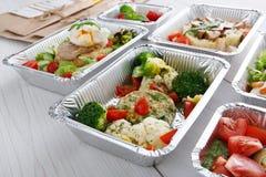 Alimento sano in scatole, concetto di dieta Immagine Stock Libera da Diritti