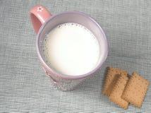 Alimento sano - taza de leche imágenes de archivo libres de regalías