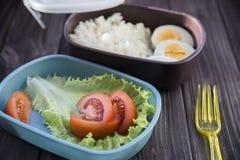 Alimento sano in un contenitore che potete prendere con voi Fotografia Stock